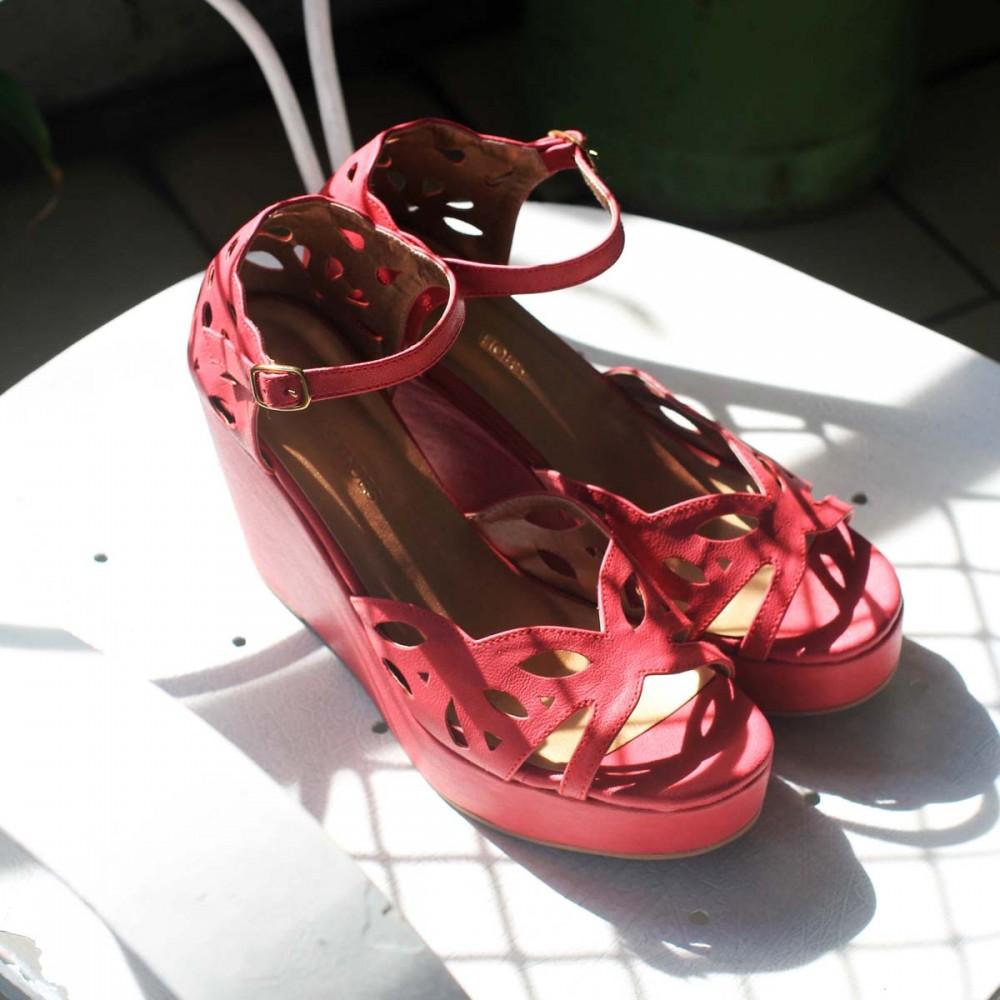 Pink Tamara wedges